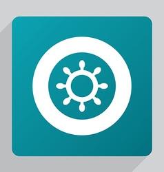 flat ship wheel icon vector image