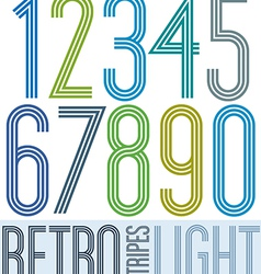 Poster retro light colorful numbers with stripes vector image vector image