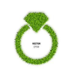 ring made of green grass vector image