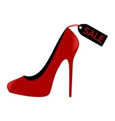 shoe sale vector image
