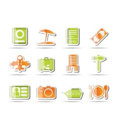 travel and holiday icons vector image