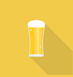 beer icon with long shadow vector image vector image