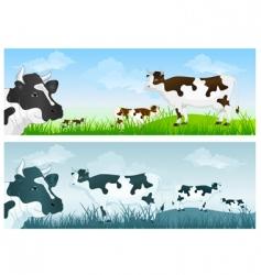 cow in meadow vector image