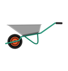 garden metal wheelbarrow vector image