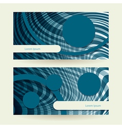 horizontal abstract blue elipse vector image vector image