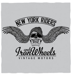 new york riders poster vector image