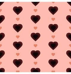Polka Dot and Hearts vector image