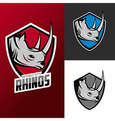 Rhino mascots set for sport teams vector image vector image