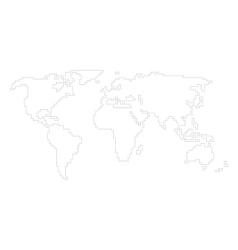 world map - angular outline vector image