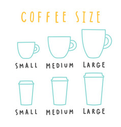 choose coffee size vector image vector image