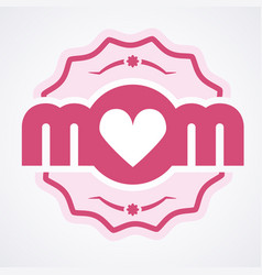 colorful mom emblem design elements for vector image vector image