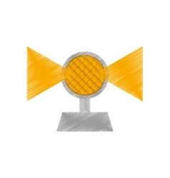 Drawing light alert mining caution sign vector