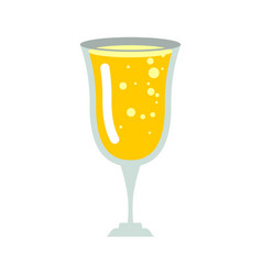 glass of champagne isolated wineglass of wine on vector image