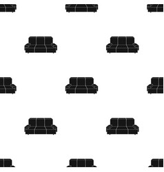 green couch icon in black style isolated on white vector image