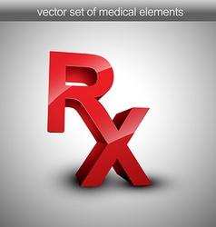 Rx vector image vector image