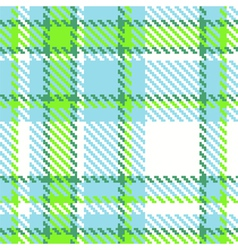 Seamless Checkered Green Blue Color Pattern vector image