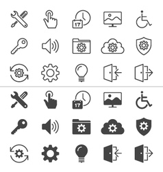 Setting icons thin vector image vector image