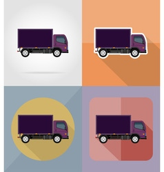 transport flat icons 15 vector image vector image