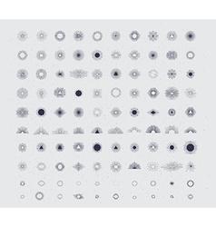 100 handmade sunburst vector image