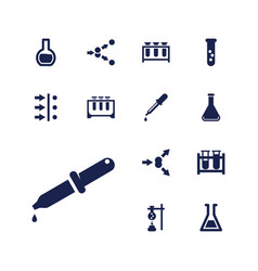 13 experiment icons vector