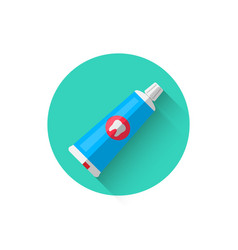 a toothpaste icon in a flat style vector image