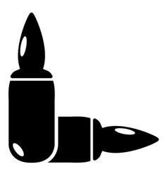 Ampoules icon simple style vector