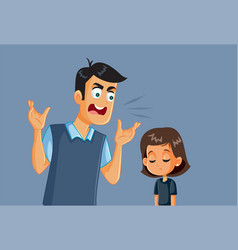 angry father screaming at his daughter vector image