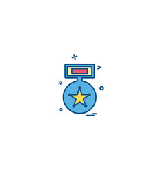 award badge honor medal star icon design vector image