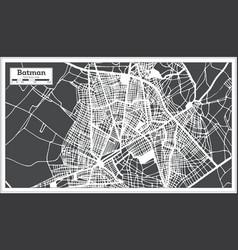 Batman turkey city map in retro style outline map vector