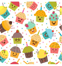 Birthday background seamless pattern vector