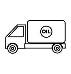 black and white cargo truck graphic vector image