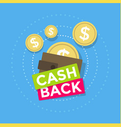 brown wallet icon cash back vector image