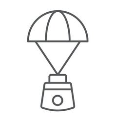 capsule parachute thin line icon space vector image