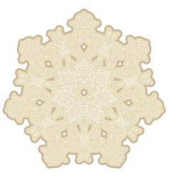 ceramic decors hand drawn mandala asian indian vector image