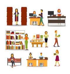 characters in the school vector image