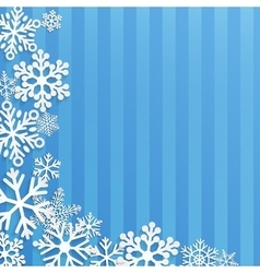 Christmas background with white snowflakes vector