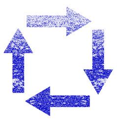 Circulation arrows grunge textured icon vector