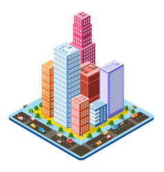 colorful 3d isometric vector image