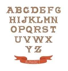 Colorful vintage alphabet on white background vector image