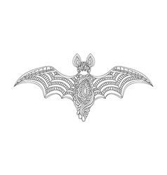 contour bat vector image