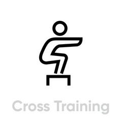 Cross training sport icon vector