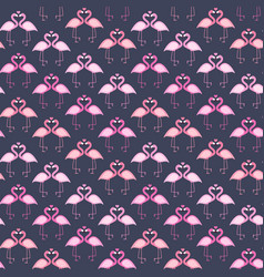 Cute seamless flamingo pattern vector