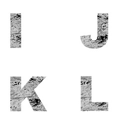 decorative letters i j k l vector image