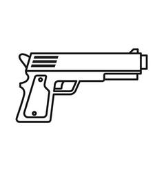 Design pistol and caliber logo web vector