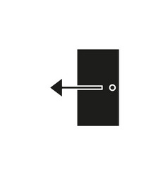 door exit log out icon vector image
