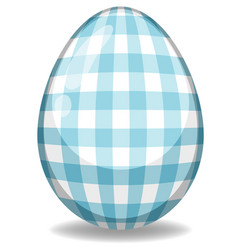 Easter theme with decorated egg in colorful vector