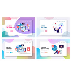 Ehr electronic health record landing page vector