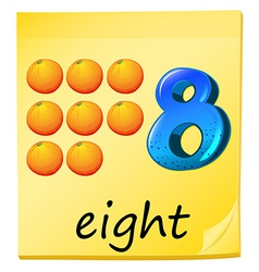 Eight oranges vector
