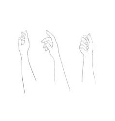 elegant arm of a woman set salon procedure of vector image