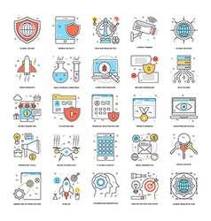 Flat Color Line Icons 9 vector